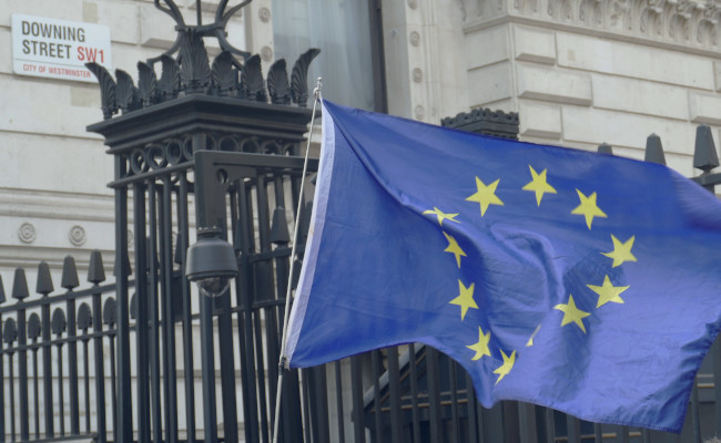 European flag at Downing Street