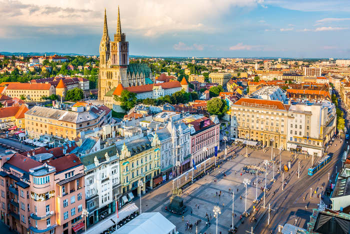 Picture of Zagreb, Croatia, new member of the Schengen Area